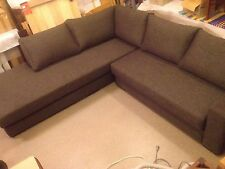 Beautiful Large L Shaped Couch Sofa Lounge Dark Charcoal/Grey