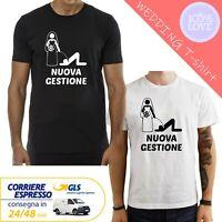 T-Shirt Maglietta addio al celibato uomo Maglia matrimonio Nuova Gestione