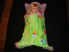 doll bedding for 18 inch american girl blanket pillow set spanish word pink lace