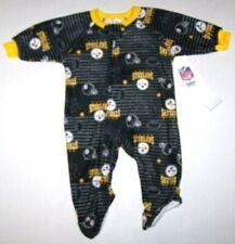 Nwt New Pittsburgh Steelers Nation Logo Blanket Sleeper Pajamas NFL Football