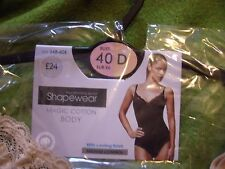 BHS Shapewear Body Shaper Magic Cotton Bodysuit Nude 40 D
