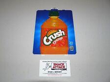 "Dixie Narco 501E & 276Hv Soda Vending Machine ""Orange Crush"" Bottle Vend Label"