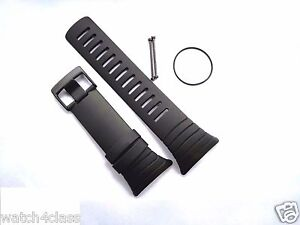 SUUNTO CORE Elastomer Black Rubber Strap band bracelet w/ O-ring SS014993000