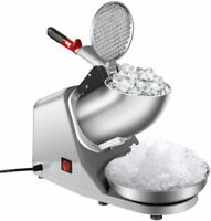 Electric Ice Crusher Shaver Home Commercial Snow Cone Maker Machine