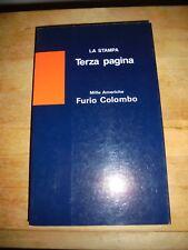 """FURIO COLOMBO """"MILLE AMERICHE"""" TERZA PAGINA - LA STAMPA 1988"""
