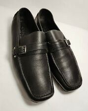 GUCCI Black Leather Exclusive Edition Men's Side Bit Loafers Size US 8.5 D