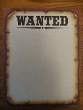 Educational Teaching/Supplies - Western Wanted Poster - Designer Computer Paper