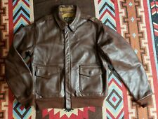 Aero A-2 Bomber Military Horsehide Leather Jacket