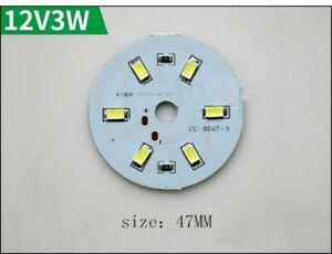 2pcs 3-15w Round 5730 SMD Lamp LED Super Bright LED Chip Light LED DC12V White