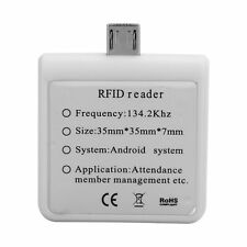W86 Micro USB Phone Card Reader Portable ForAndroid/ Mobile ID Reader White