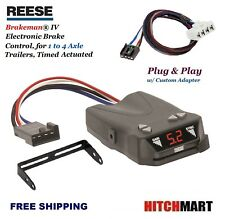 REESE TRAILER BRAKE CONTROL w ADAPTER FOR DODGE DURANGO, DAKOTA w TOW  83504