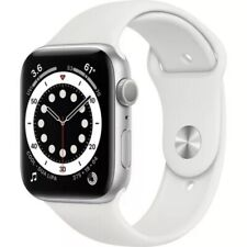 Apple Watch Series 6 44MM (GPS) Silver Aluminum Case with White Sports Band