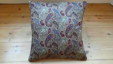 Handmade cushion covers Liberty Bourton paisley style 16 x 16 inch red pink