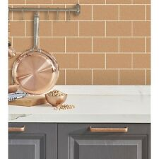 CROWN LONDON COPPER GLITTER KITCHEN BATHROOM TILE WALL VINYL WALLPAPER M1331