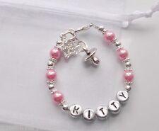 baby girl, baby shower christening, 1st birthday  present personalised bracelet