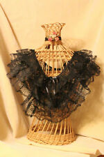 Handcrafted  Black Victorian Lace Collar and Choker - Free Shipping!