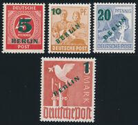 BERLIN, MiNr. 64-67, postfrisch, gepr. Schlegel, Mi. 250,-
