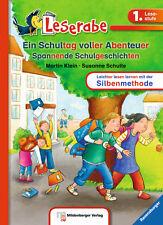 Leserabe 1. Klasse Ein Schultag voller Abenteuer Softcover Lesen lernen + BONUS