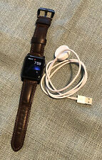Apple Watch 42mm 7000 Series Black Aluminum Case Nomad Horween Leather Co Band