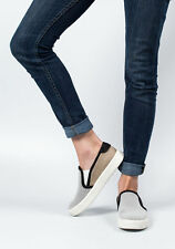 Vince Bram Mesh Slip On Sneakers, White/Bone/Natural/Black Size US 9.5 EU 41