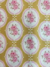Tilda Oval Rose Green Fabric 1m Length crafting quilting Cotton Floral material