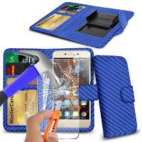 For HOMTOM HT3 Pro 4G - Clip On PU Leather Flip Wallet Case Cover & Glass
