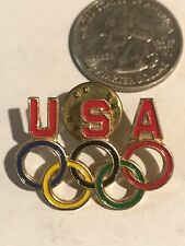 USA United States Olympic Games COLORED RINGS Collectible Tac Pin USC380 USOC36