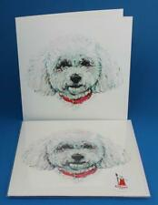 BICHON FRISE Blank Greeting Card - Original by RedTrousersDesigns