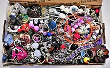 VINTAGE TO NEW JUNK DRAWER JEWELRY LOT REPAIR SCRAP CRAFT ABOUT 2 LBS SEE PIX