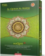 MAQDIS Quran Word By Word Arabic-English Translation Color Coded Tajwid A4 Green