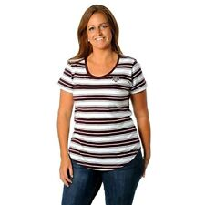 TEXAS A&M AGGIES Womens Top Size Small Tailgate T Shirt Tailored Fit Stripes New