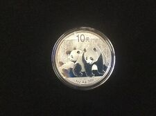 2010 chinese panda 1 oz silver coin