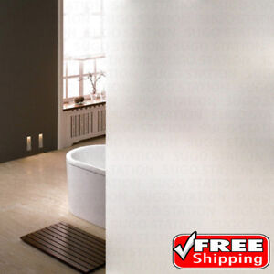 """24""""x6FT Home/Office Privacy White Frosted Window Tint Glass Self Adhesive Film"""