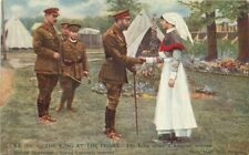 C-1916 Postcard King meets hospital matron Daily Mail Military Nurse 1592