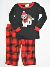 Carters Pajamas Size 24 mo Boys St Bernard Dog Red Plaid Winter Fleece