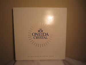 "Royal Crystal Rock Oneida Solaris Charger 13"" Glass Serving Plate Italy NIB"