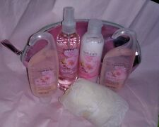Avon Naturals Blushing Cherry Blossoms 4 Piece Bath and Body Set + free gifts!