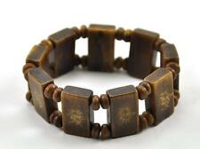 Vintage Bone Hand Carved bead Majohn Mahjong Tile Dice Bracelet Bangle