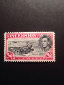Ascension Island SG 45 GVI 1938 2/6 Black And Carmine Mounted Mint