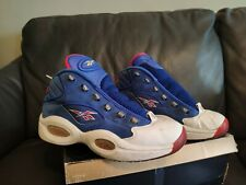 1dc8d586b8c9 Packer x Reebok Question Mid PRACTICE Iverson blue white red American flag  76ers