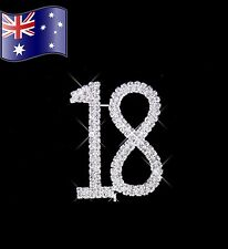 18th Birthday Diamanté Cake Topper Crystal Rhinestone #18 Decoration Sparkling