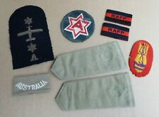 WW11 AIF AUSTRALIAN AND OTHER MIXED LOT OF CLOTH PATCHES SHOULDER BOARDS ETC