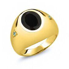 Onyx Yellow Gold 14k Rings for Men