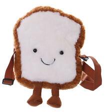 LB-7041 Toast Brot-Männchen With Cute Face Braun Plush Shoulder Bag