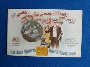 Antique John Knight's Family Health Soap Advertising Postcard Trade Card