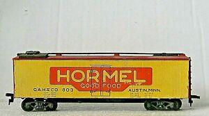 "ULRICH COMET Box Car ""Wooden"" ICE Reefer GAH&CO 803 HORMEL FOODS - RARE - HO"