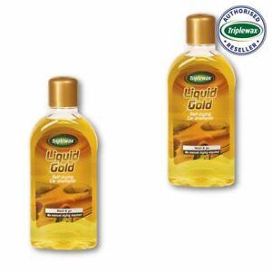 Triplewax TLG001 Liquid Gold Self Drying Car Shampoo Clean Washing 1L Litre x 2