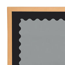 Black Scalloped Bulletin Board Borders - Educational - 13 Pieces