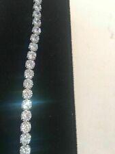 "5.00 Ct Diamond Tennis Bracelet 7"" Round Cut Diamonds 14K White Gold Over"