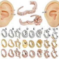 Zircon Stud Ear Clip Tragus Cartilage Helix Earring Fashion Ear Piercing Jewelry